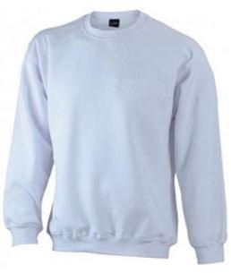 Sweat-Shirt weiß mit Brusttasche