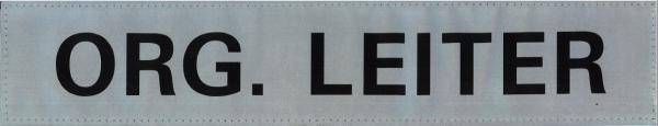 Rückenschild silber ORG. LEITER 42x8cm