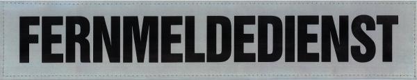 Rückenschild silber FERNMELDEDIENST