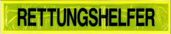 Rückenschild gelb RETTUNGSHELFER 42x8cm