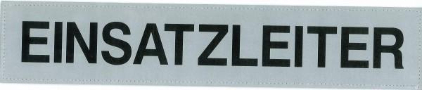 Rückenschild silber EINSATZLEITER 42x8cm