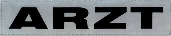 Rückenschild silber ARZT 38x8cm
