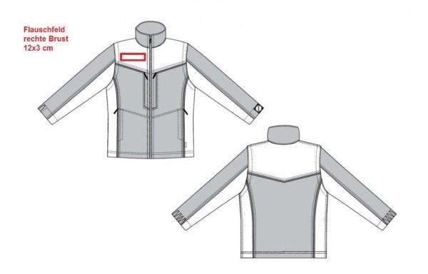 Flausch 12x3 cm auf rechte Brust aufnähen