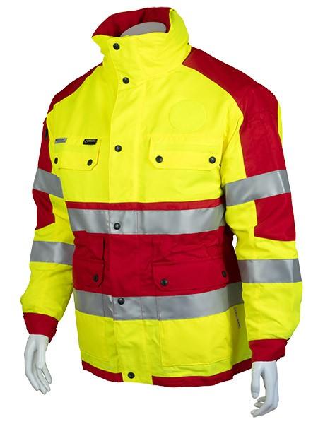GSG Rettungsdienst Wetterschutzjacke rot/gelb