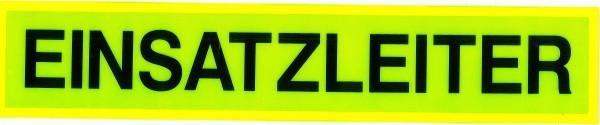 Rückenschild gelb EINSATZLEITER 42x8cm