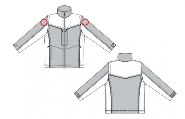 DRK Armscheiben auf beide Ärmel aufnähen KE19015