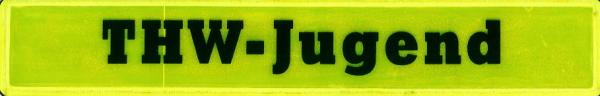 Rückenschild gelb THW-Jugend 30x5cm