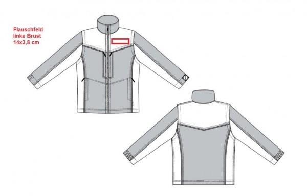 Flauschfeld 14 x 3,8 cm auf linke Brust aufnähen