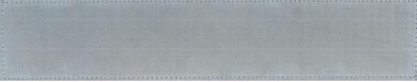Rückenschild silber Blanco 42x8cm