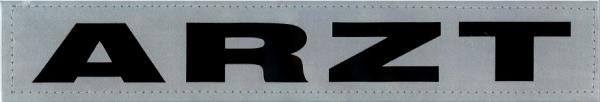 Rückenschild silber 30x5cm ARZT