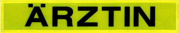 Rückenschild gelb ÄRZTIN 42x8cm