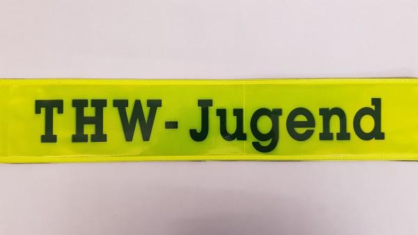 Rückenschild gelb THW-JUGEND 42x8cm
