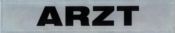 Rückenschild silber ARZT 42x8cm
