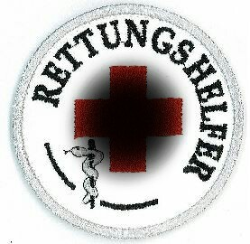 Emblem Rettungshelfer 8 cm