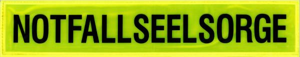 Rückenschild gelb NOTFALLSEELSORGE 42x8cm