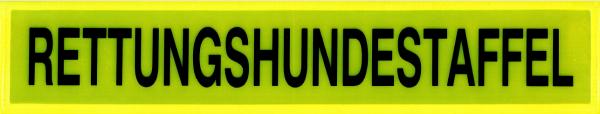 Rückenschild gelb RETTUNGSHUNDESTAFFEL 42x8cm