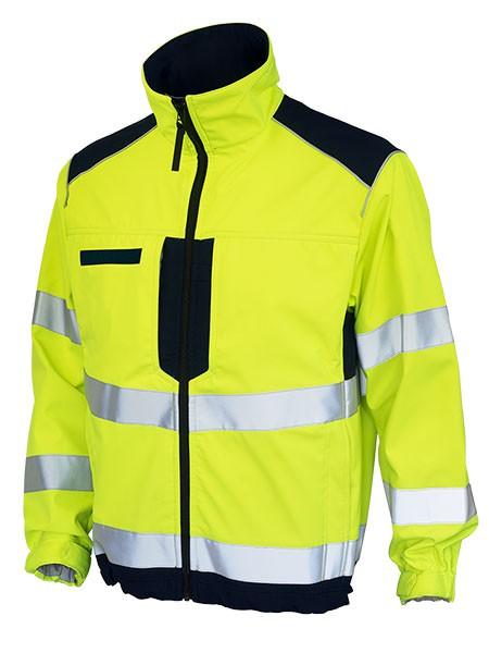 GSG Bavaria Rettungsdienstjacke Softshell gelb/marine