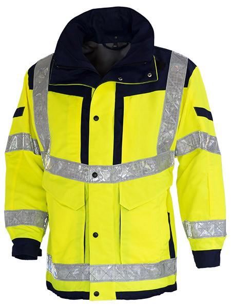 GSG Invictus Rettungsdienstjacke gelb/marine