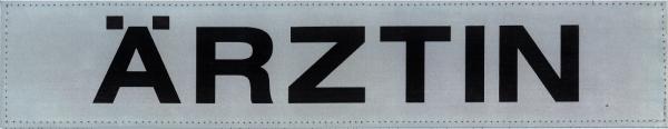 Rückenschild silber ÄRZTIN 42x8cm