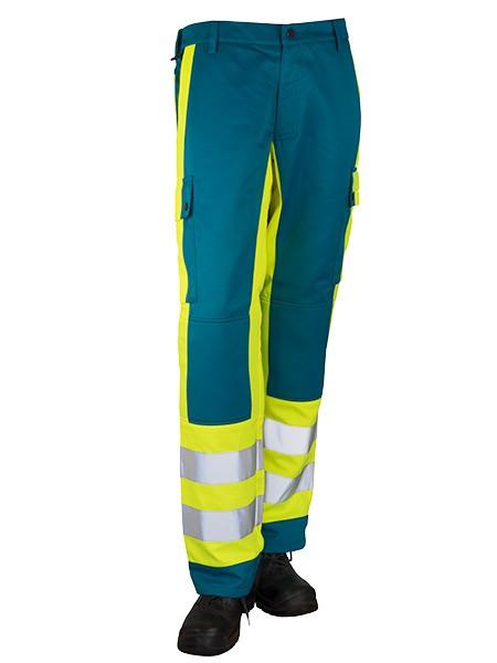 GSG Belga-Pro Rettungsdiensthose türkis/gelb