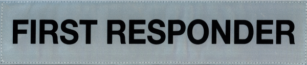 Rückenschild silber FIRST RESPONDER 38x8cm
