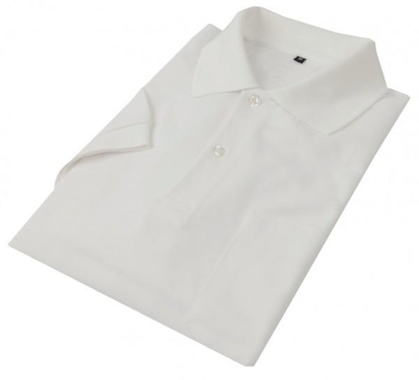 Poloshirt Bioactive weiß, mit Brusttasche, neutral