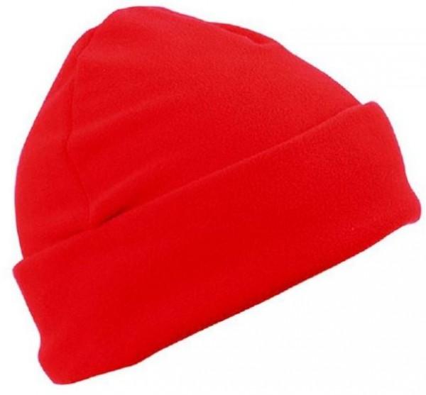 Microfleece Mütze, rot