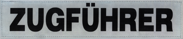 Rückenschild silber ZUGFÜHRER 38x8cm