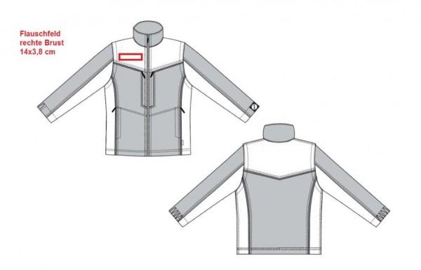Flauschfeld 14 x 3,8 cm auf rechte Brust aufnähen