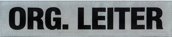Rückenschild silber ORG. LEITER 38x8cm