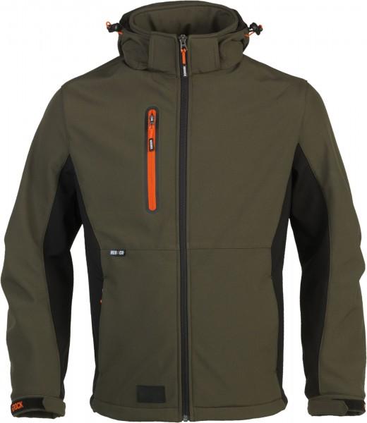 HEROCK Trystan Softshelljacke dunkel khaki/ schwarz