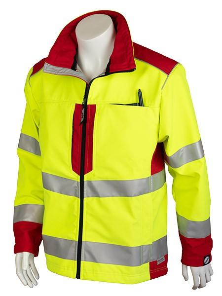 GSG Bavaria Rettungsdienstjacke Softshell gelb/rot