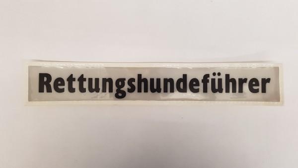 Rückenschild weiß Rettungshundeführer 30x5cm