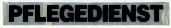 Rückenschild weiß PLEGEDIENST 30x5cm