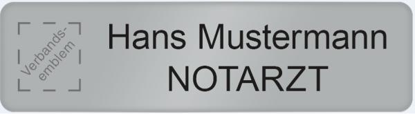 Namensschild Metall JUH Logo, Klett
