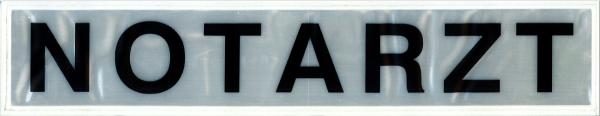 Rückenschild weiß NOTARZT 42x8cm
