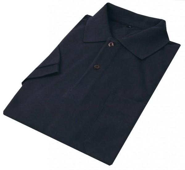 Poloshirt Bioactive marine, ohne Brusttasche, neutral