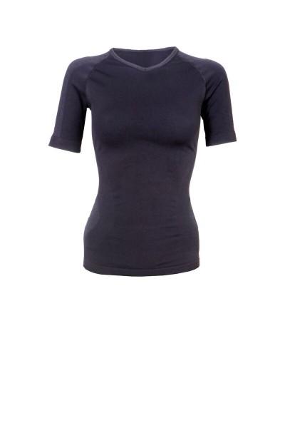 Technical seamless Kurzarm T-Shirt schwarz