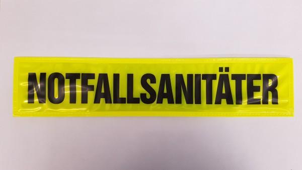Rückenschild gelb NOTFALLSANITÄTER 38x8cm