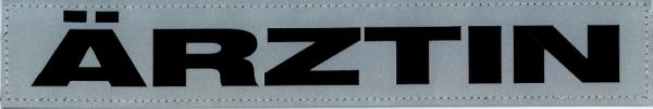 Rückenschild silber ÄRZTIN 30x5cm