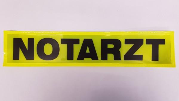 Rückenschild gelb NOTARZT 38x8cm