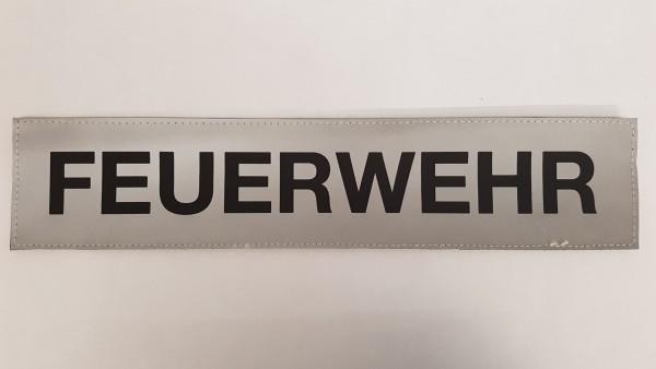 Rückenschild silber FEUERWEHR 38x8cm