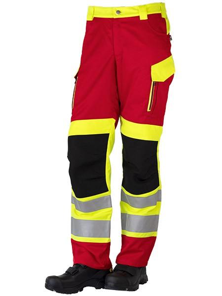 GSG Exciter Rettungsdiensthose Klasse 1 rot/gelb