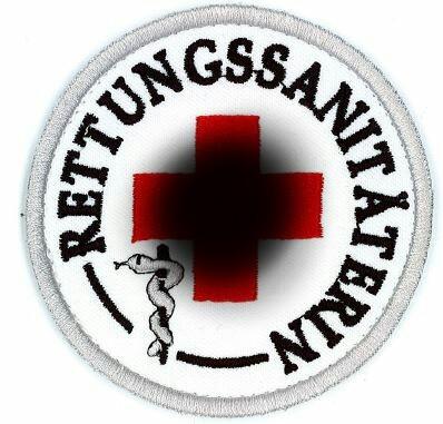 Emblem Rettungssanitäterin 8 cm