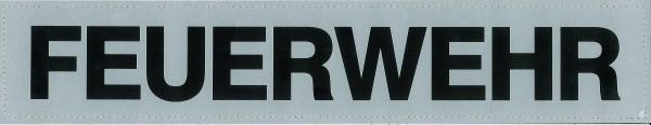 Rückenschild silber FEUERWEHR 42x8cm